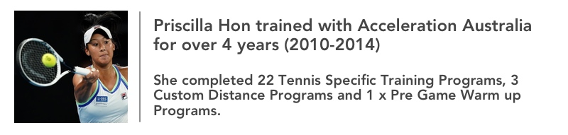 Priscilla Hon Tennis Program Acceleration Australia